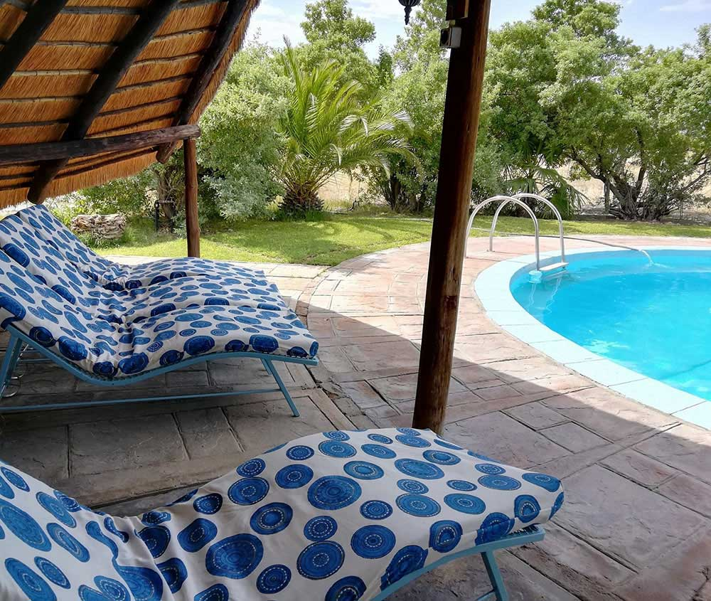 Our pool for your Holidays in Namibia - Vreugde guest farm Etosha National Park