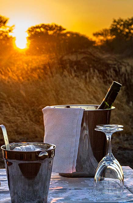 Drinks at sunset - Namibian food at our Guest house namibia - Vreugde Guest Farm