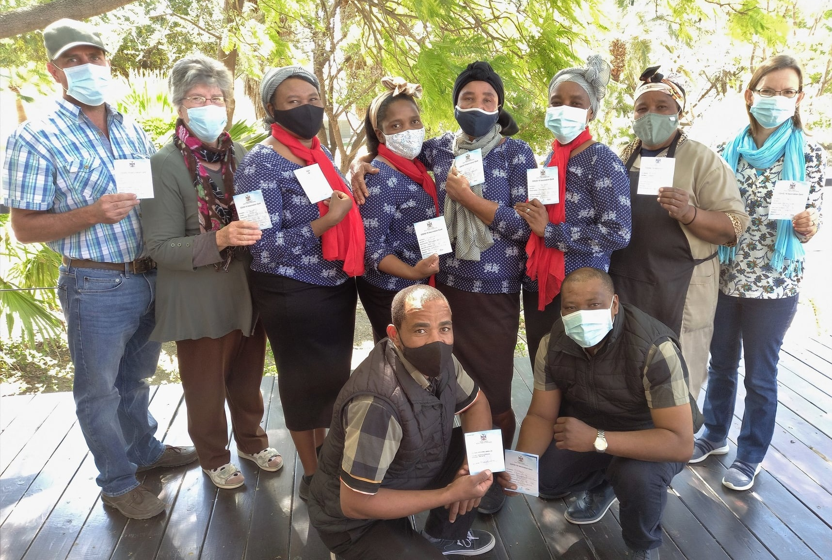 The Vreugde Guest Farm team have had their Covid-19 vaccinations